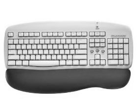 Logitech Cordless Keyboard Grey 0970900403 - PS/2 & USB
