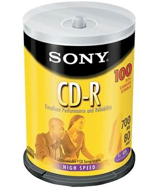 Sony Recordable CD-R Media - 100 Pack