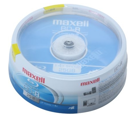 maxell 25GB 4X BD-R 15 Packs Spindle Disc