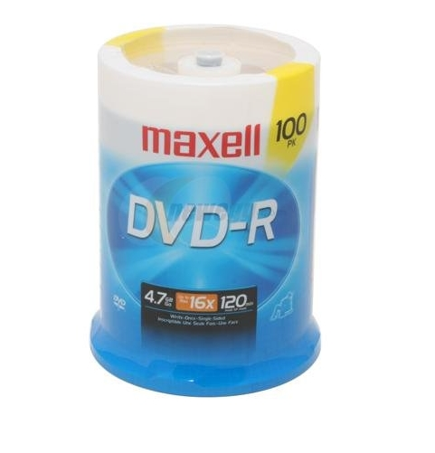 maxell 4.7GB 16X DVD-R 100 Packs