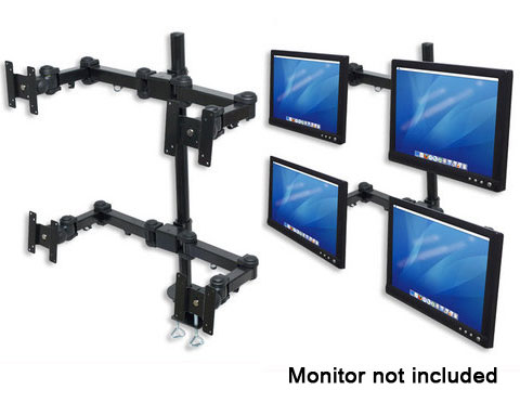 Manhattan LCD Monitor Pole Supports four Monitors - 420815