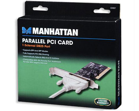 Manhattan Parallel PCI Card 1 External DB25 Port