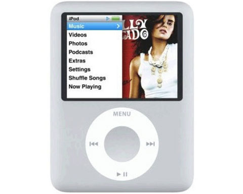 Apple iPod Nano 8GB 3rd Generation, Silver - MA980LL/A