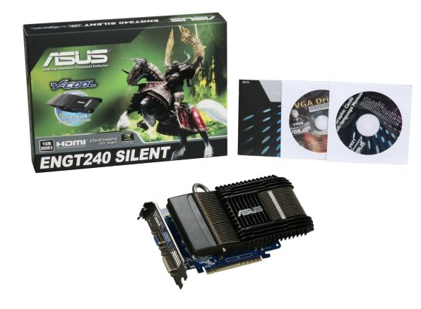 ASUS ENGT GeForce GT 240 Silent DI 1GD3 1 GB DDR3 SDRAM
