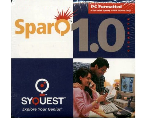 SYQUEST SparQ 1.0GB PC Formatted Disks