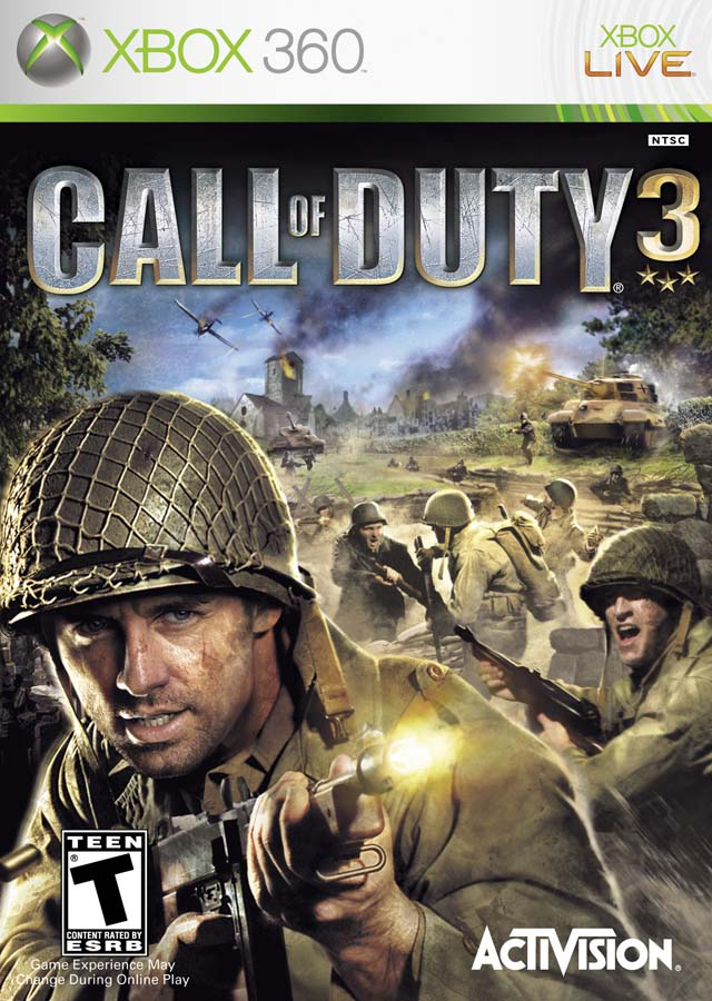 Acitvision call of duty 3 for Microsoft X Box 360