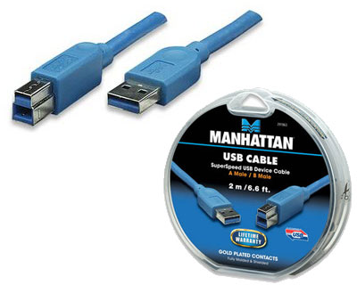 Manhattan USB 3.0 Extension Cable A Male - B Male, 1.8 m (6 ft)