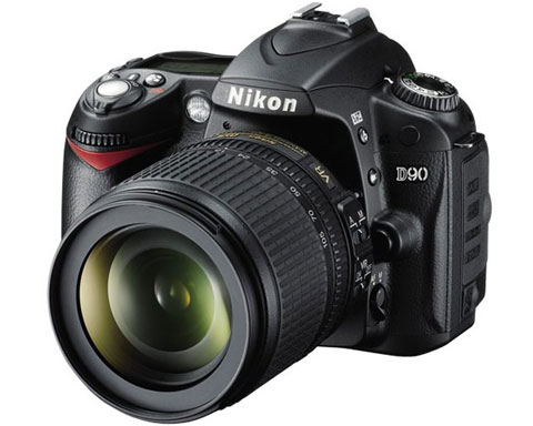"Nikon D90 12 Megapixel Digital SLR Camera w/ 3"" LCD, Live View,"