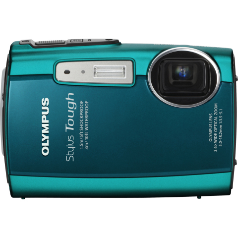 "OLYMPUS Stylus Tough 3000 Green 12 MP 2.7"" 230K LCD 3.6X Optical"