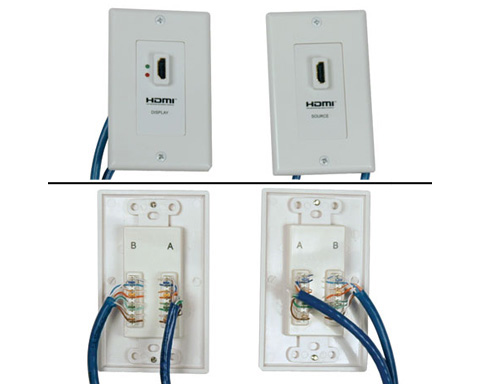 Tripplite HDMI over Cat5 Active Extender Wall Plate Kit P167-000