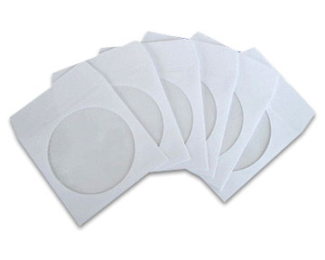 White Paper CD/DVD Sleeves - 100pcs envelope