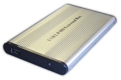 "USB 2.0 Aluminum 2.5"" External Hard Drive Enclosure, Mini USB2.0"