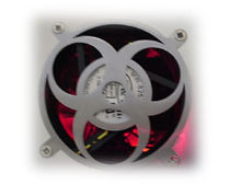 GRILL Laser Cut Fan Grill, 80mm Biohazard MOD PC