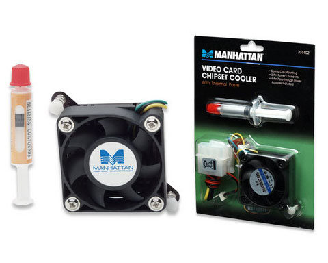 Manhattan Video Card Chipset Cooler with Thermal Paste - 701402
