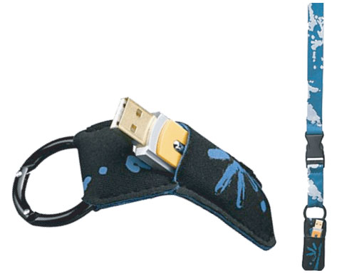 CASE LOGIC LANYARD WITH USB SLEEVE B(D) - SLY2BLU