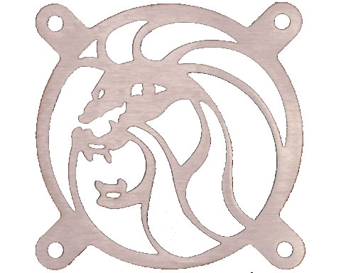 FAN GRILL LION HEAD 80MM