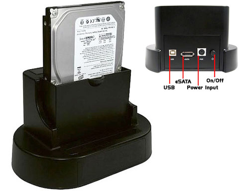 "Cables Unlimited USB 2.0 and eSATA to SATA 2.5"" / 3.5"" HDD Dock"