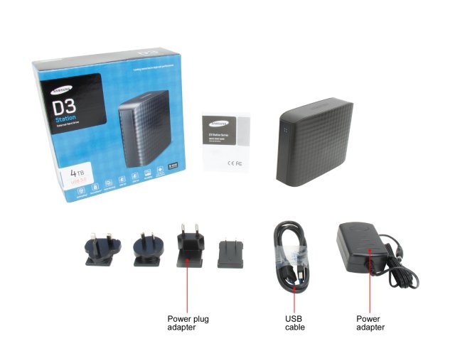 "SAMSUNG D3 Station 4TB USB 3.0 3.5"" Desktop External Hard Drive"