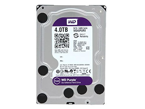 WD Purple 4TB Surveillence Hard Drive: 1 to 8-bay: 3.5-inch, SAT