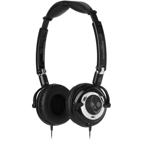 Skullcandy Lowrider Black/Chrome w/Mic On Ear Headphones - S5LWC