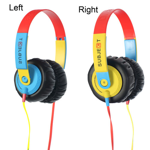 Subjekt Xi DJ Headphones with Super-sized Memory Foam Cushions f