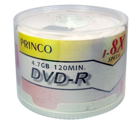 Princo DVD-R 8X WHITE THERMAL 50 Pack