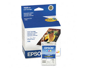 EPSON T029201 TriColor Ink Cartridge Stylus Color C50 C60 C61