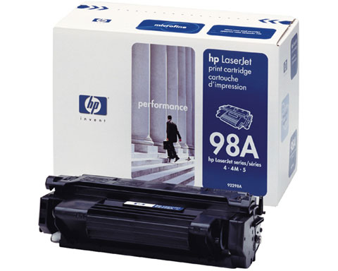 HP 92298A Black Toner Cartridge for 4 / 4M / 4 Plus / 4M Plus