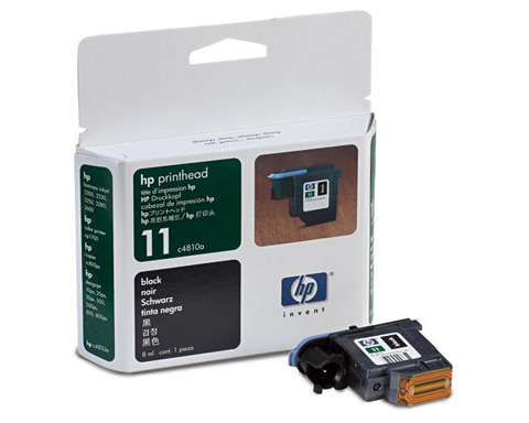HP No. 11 Black Printhead/Cleaner - C4810A - 16000 Page