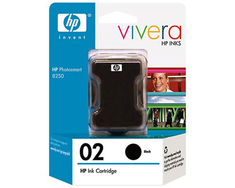 HP 02 Black Ink Cartridge for HP Photosmart C5180 C6180 C6280