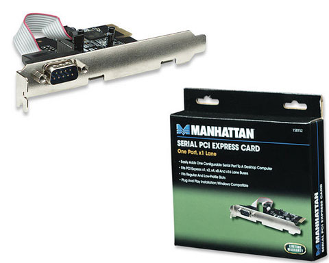 Manhattan Serial PCI Express Card 1 Port - 158152