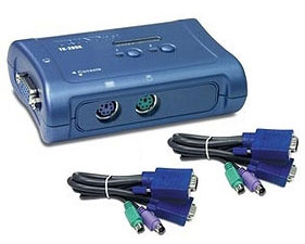 TRENDnet 2-Port PS/2 KVM Switch Kit - TK-205K