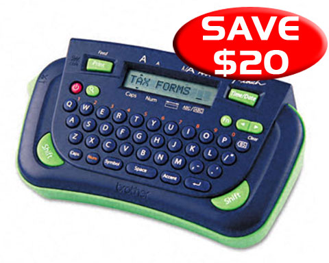 Brother P-touch PT-80 Affordable Personal Labeler, 3/8 to 1/2 La