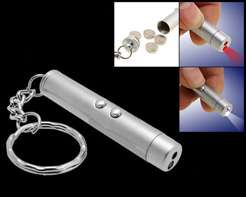 Cool Mini 2 in 1 Super Led Lamp Flashlight Key Ring Torch