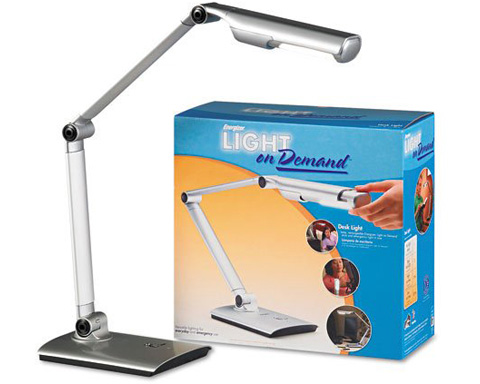 Energizer Rechargeable Light on Demand Desk Lamp
