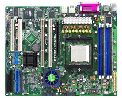 ASUS K8N-LR Server Board - Socket 939, nVIDIA nForce4 SLI, 4 x 1