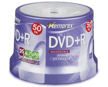 MEMOREX 16x DVD+R 4.7GB / 120Min - 50 Pack