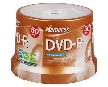 MEMOREX 16x DVD-R 4.7GB / 120Min - 50 Pack