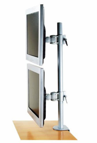 Dual LCD Vertical Monitor Screen Mount Stand 2 LCD Screen Desk M