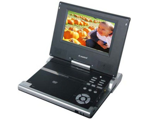 "Digix PDV-0082B Swivel Portable 8"" DVD Player Built-in Speakers"