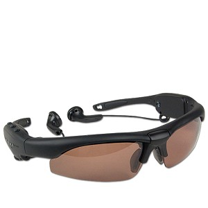 USB 2.0 256MB MP3 Player Polarized Sunglasses (Black)