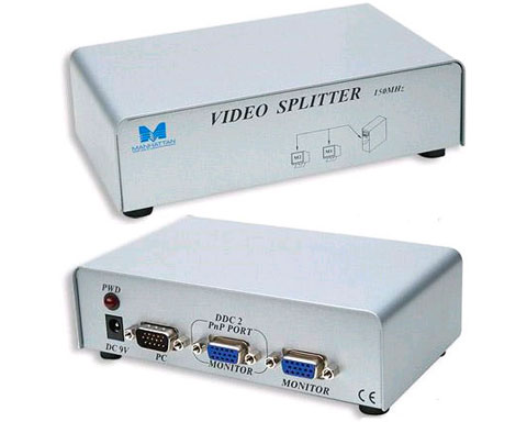 Manhattan 2 Ports Video Splitter