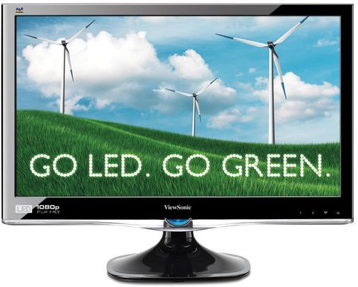 "ViewSonic VX2450wm-LED 23.6"" Widescreen LCD Monitor - 1080p, 192"
