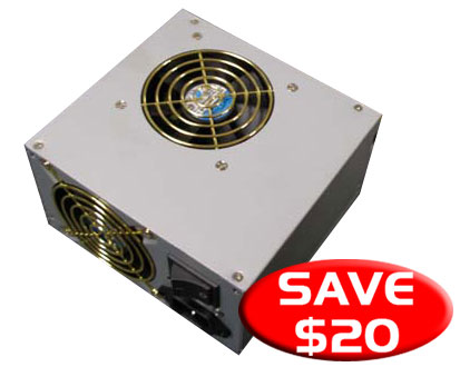 STARPOWER POWER SUPPLY 350W//600W PEAK DUAL 80MM FAN THERMAL CON