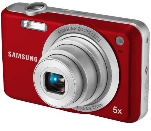 SAMSUNG SL50 27mm Wide Angle Digital Camera Tomato Orange 10.2