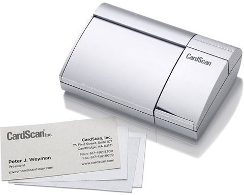 CardScan Personal Monochrome Business Card Scanner