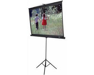 "Elite 71"" Screens Tripod Portable Projection Screen - 50"" x 50"""