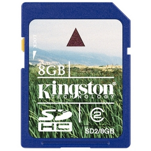 Kingston 8GB Secure Digital High Capacity (SDHC) Card - Class 2