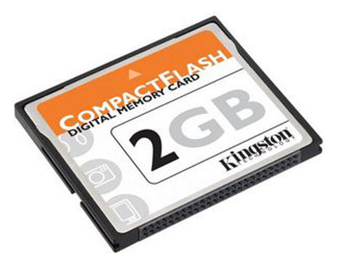 Z SOLD OUT Kingston 2GB COMPACT FLASH CARD CF MEMORY - 2 GB