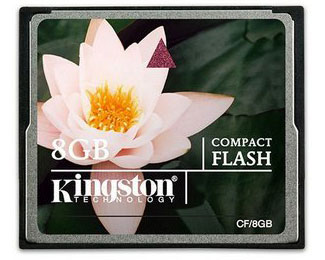 Kingston 8GB CompactFlash (CF) Card - 8GB